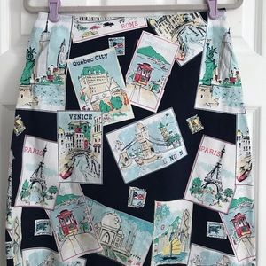 Talbots Women's Postcard Pencil Skirt Size 6